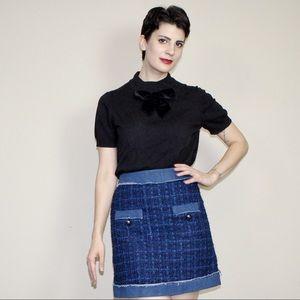 kate spade Tops - Kate Spade black bow sweater t shirt